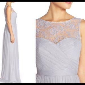 Amsale Chandra Elegant grey gown, Size 4
